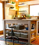 restoration hardware inspired kitchen island 1
