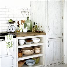 rustic kitchen storage